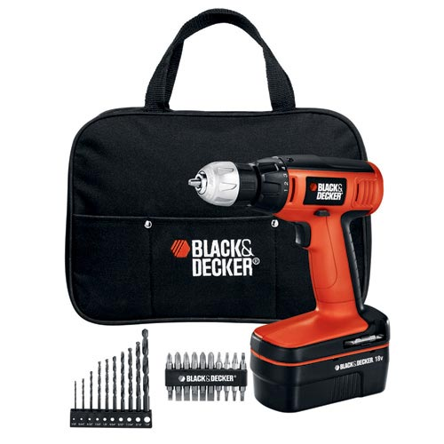Black and Decker CDC180ASB 18V Compact Cordless Drill with 20 Accessories
