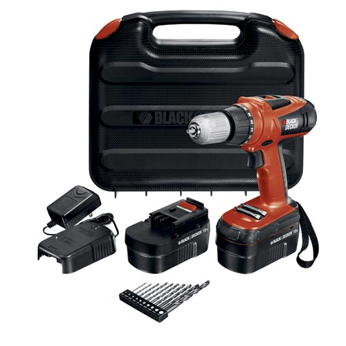 Black and Decker HPD18AK-2 18V High Performance Drill with 10 Accessories