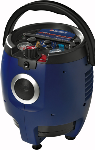 Campbell Hausfeld FP2071 Cordless / Rechargeable Air Compressor with Radio (1.5 Gallon Tank)