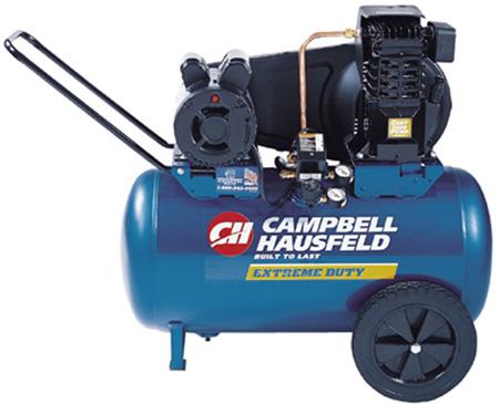 Campbell Hausfeld VT6290 Cast Iron Compressor, 2 Running HP, 20 Gal.