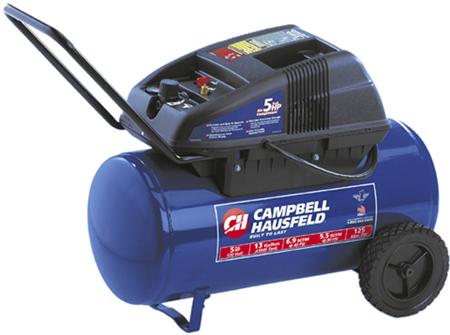 Campbell Hausfeld WL6501 Oil-Less Compressors, 13 Gal, 1.7 Running HP