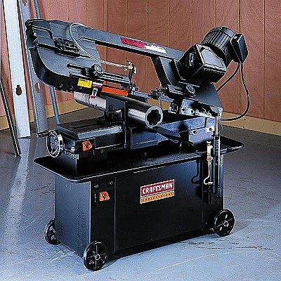22612 Craftsman Professional 7 x 12 in. Band Saw, Mobile Base, Horizontal, Wet-Dry Metal Cutting