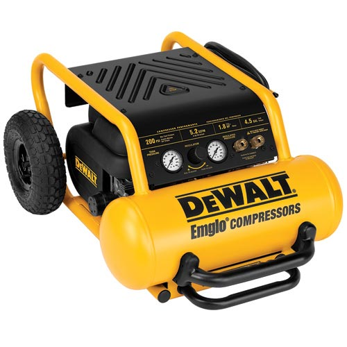 DeWalt D55146 1.8 HP Continuous, 200 PSI, 4.5 Gallon Compressor