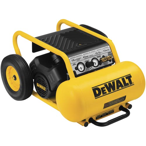 DeWalt D55171 1.5 HP Continuous, 175 PSI, 7.5 Gallon Compressor