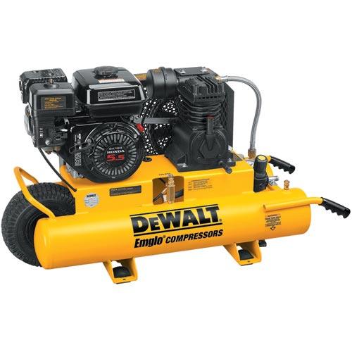 DeWalt D55270 5.5 HP 8 Gallon Gas Wheeled Portable Compressor