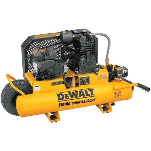 DeWalt D55570 1.5 HP 8 Gallon Compressor with Dual Voltage and Dual Control