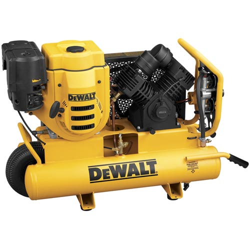 DeWalt D55690 270cc (9 HP), 150 PSI, 8 Gallon Compressor with 18V Battery Start