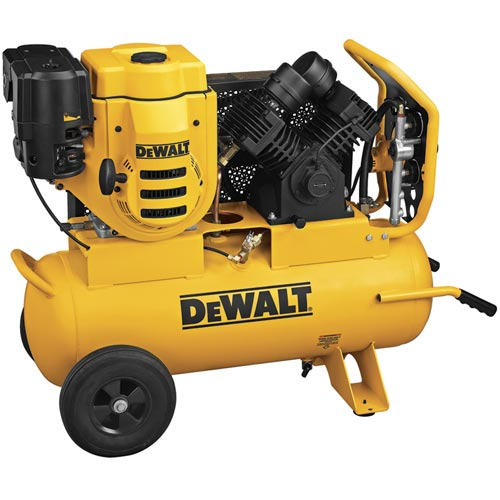 DeWalt D55695 270cc (9 HP), 150 PSI, 17 Gallon Compressor with 18V Battery Start