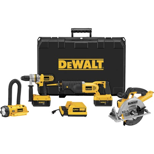 DeWalt DCX6401 36V Cordless Li-Ion Hammerdrill/Circ/Recip/Floodlight Combo Kit