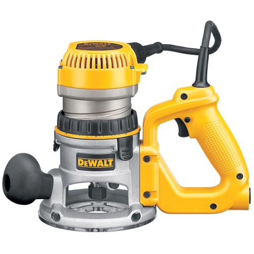 DeWalt DW618D 2-1/4 HP (maximum motor HP) EVS D-Handle Router with Soft Start