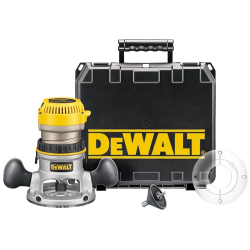 DeWalt DW618K 2-1/4 HP (maximum motor HP) EVS Fixed Base Router Kit with Soft Start
