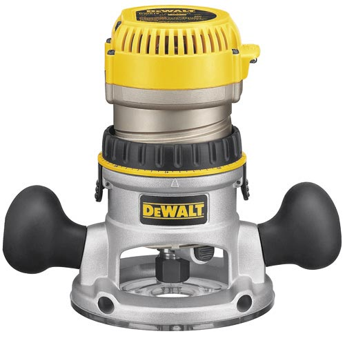 DeWalt DW618 2-1/4 HP (maximum motor HP) EVS Fixed Base Router with Soft Start