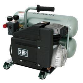 hitachi EC12 Portable 4-Gallon Twin Stack Air Compressor