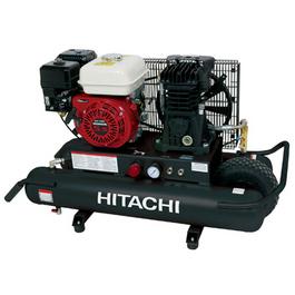 hitachi EC2510E 8-Gallon Honda GX Gas Powered Wheeled Air Compressor