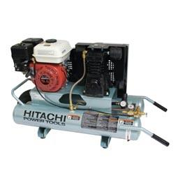 hitachi EC25E 8-Gallon Honda GX Gas Powered Wheeled Air Compressor