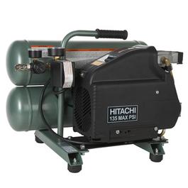 hitachi EC89 4-Gallon Portable Electric Twin Stack Air Compressor