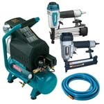 Makita MAC700K3 Nailer, Stapler and Compressor Kit