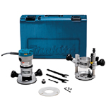 Makita RF1101KIT2 2-1/4 H.P.* Industrial Router Kit (Variable Speed)