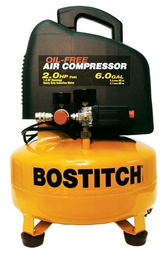 Stanley Bostitch CAP2060P 2.0 Peak HP, 6 Gal. Tank Oil-Free Air Compressor