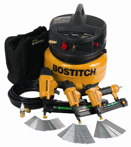 Stanley Bostitch CPACK300 3-Tool & Compressor Combo Kit